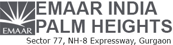 Logo Emaar India Palm Heights Sector 77 Main NH-8 Expressway Gurgaon